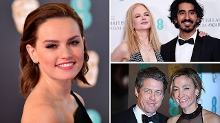 Stars arrive on the Baftas red carpet