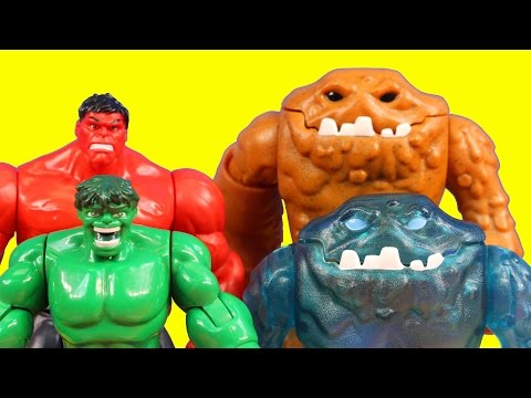 Imaginext Clay Face Brothers Attack Incredible Hulk Smash Brothers Superman And Green Lantern