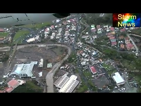 Hurricane Maria Aftermath Aerial footage Dominica