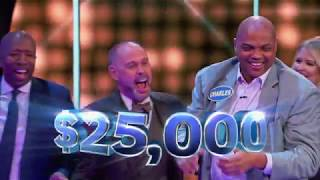 Shaq and Charles Barkley Take on Fast Money – Celebrity Family Feud