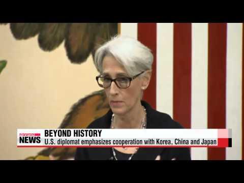U.S. diplomat emphasizes cooperation with Korea, China and Japan   웬디셔먼 차관