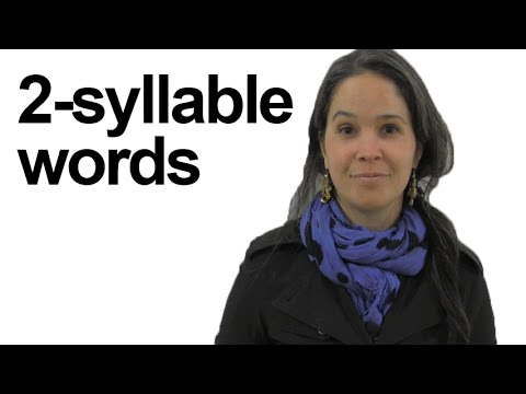 Two-Syllable Words – Can you Identify Stress? American English