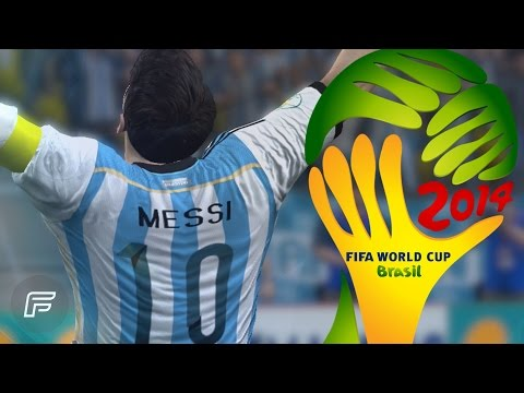 Lionel Messi - All 4 Goals In 2014 World Cup: Brazil (FIFA Remake)