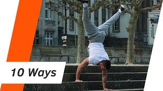 10 WAYS TO walk down the stairs in a HANDSTAND | Andiletics