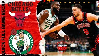 NBA GAME RECAP: Boston Celtics vs Chicago Bulls | January 13, 2020