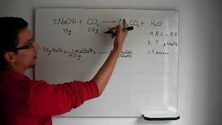 Estequiometría: Calculos con reactivo limite y en  exceso (gramos)