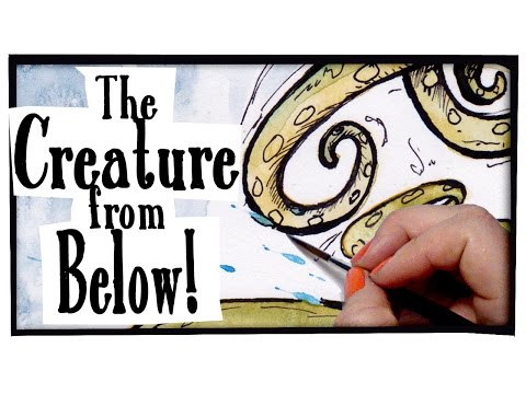 The Creature from Below! - TIME LAPSE PAINTING