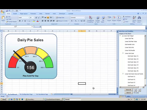 Making an Excel Dashboard - Tutorial #1 Copying Widgets