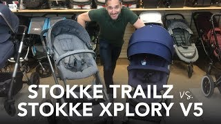 Stokke Trailz vs Stokke Xplory v5 Stroller 2017 | Reviews | Ratings | Prices | Comparisons