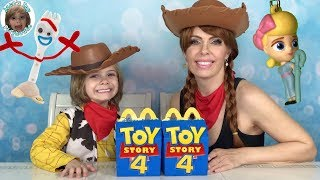 Toy Story 4 Custom McDonalds Happy Meal Switch Up Challenge Bo Peep Forky vs Jesse