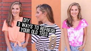 DIY: 3 Things To Do With An Old T-Shirt! (STYLEWIRE)   Hollywire