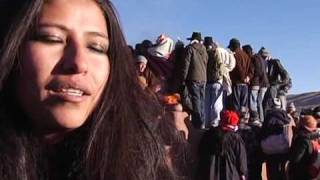 Bolivian natives celebrate New Year, winter solstice