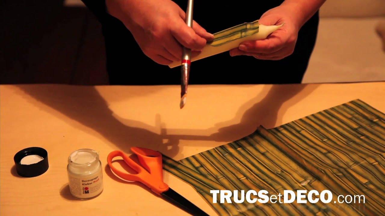 d 233 coration de bougie avec du papier de soie tutoriel par trucsetdeco
