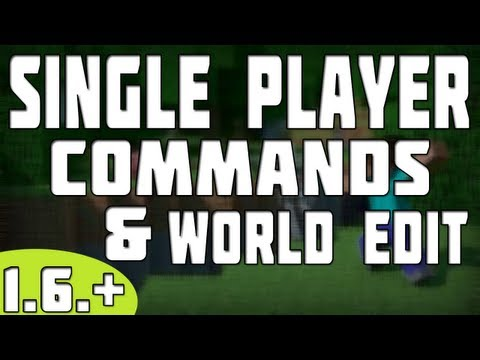 How To Install Single Player Commands World Edit Minecraft 1.6.2 tutorial