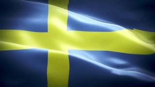 Sweden anthem & flag FullHD   Швеция гимн и флаг   Sverige hymn och flagga