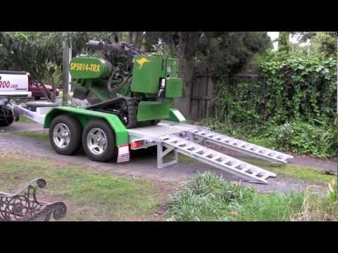 Red Roo: Small Track WIRELESS Remote Stump Grinder 5014 machine