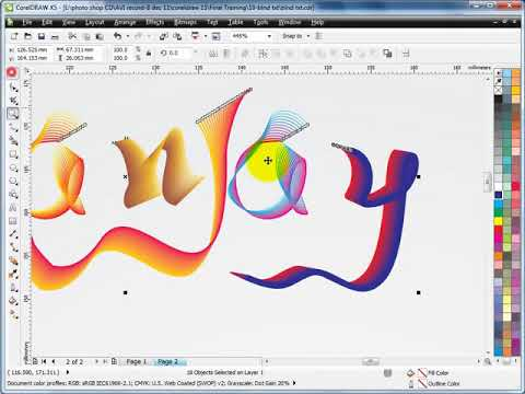 Learn Corel Draw, Tutorials in Hindi- Blend Tool Effect-advance