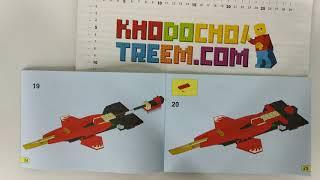 Hướng dẫn lắp ráp Bela 10219 Lego Ninjago 70721 Kai Fighter giá sốc rẻ nhất