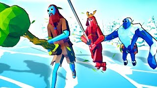 TABS Update! - SECRET Tree GIANT vs Samurai Giant & Dynasty Units Totally Accurate Battle Simulator