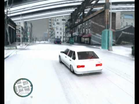 GTA IV SNOW 2114 снег в гта4.mp4