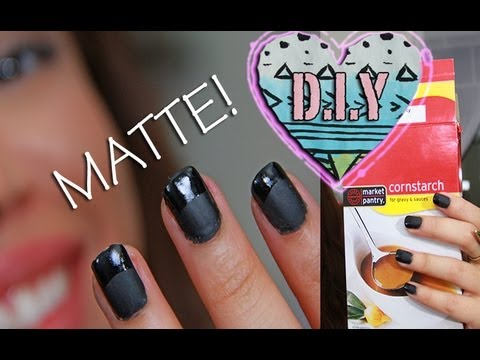D.I.Y homemade MATTE NAIL Polish!!! | AndreasChoice