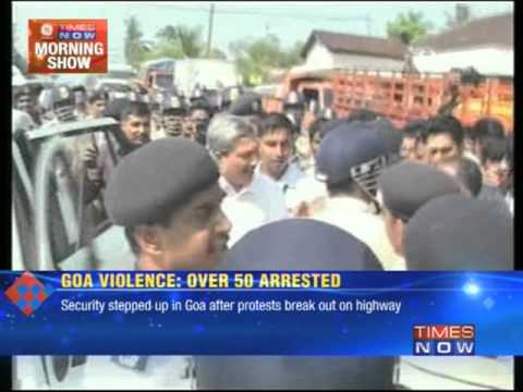 Goa : Nigerian protesters clash with police