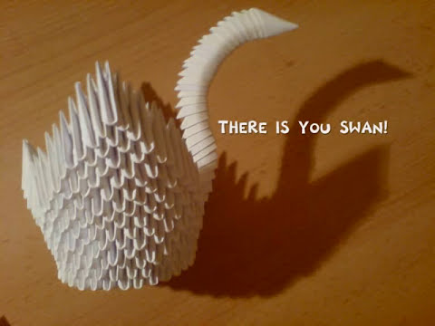 How to make a 3D Origami Swan (Tutorial by KleinerChaotBerlin)
