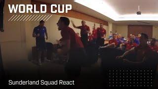 Sunderland squad watch World Cup drama unfold