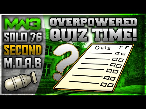 MW3: SOLO 76 SECOND MOAB ON RESISTANCE! - OP QUIZ TIME!