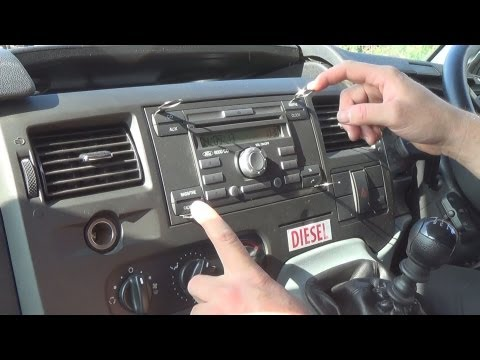 Radio Removal Ford Transit (2006-2013)   JustSimpleTips