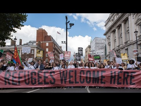 12/09/2015 Refugees Welcome Here National Demonstration, London.