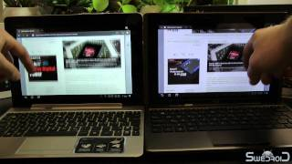 ASUS Transformer Prime vs ASUS Transformer web browser comparison