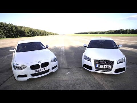 BMW M135i v Audi RS3: Road, Track, Drag-race. - /CHRIS HARRIS ON CARS