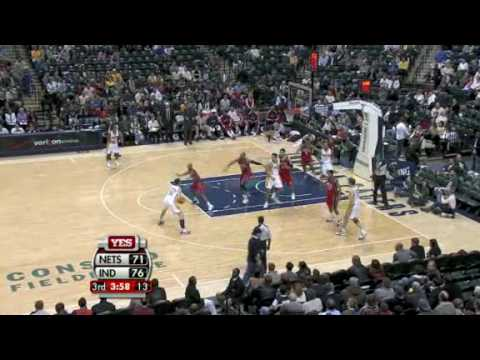 Nets vs Pacers (NBA Highlights) 11/12/2009