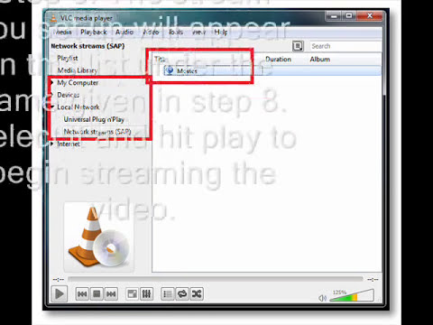 How to stream a video using VLC media player