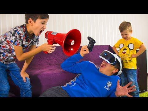 Надо СПАСАТЬ Папу! ПРОПАЛ в Виртуальной Реальности! Для Детей Video for kids
