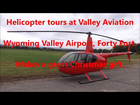 Jingle Bell helicopter rides at Valley Aviation, Wyoming Valley Airport, Forty Fort