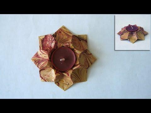 Origami Instructions: Star Bowl (Dáša Ševerová)