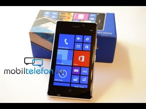 Распаковка Nokia Lumia 925 (unboxing): аксессуары и включение
