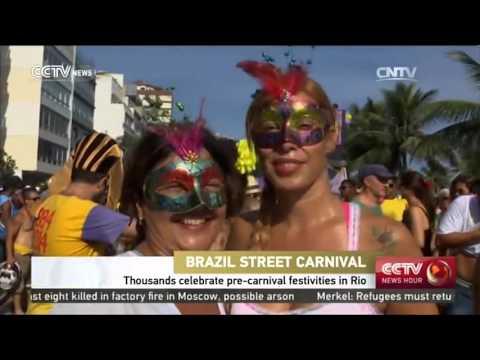 Thousands celebrate pre-carnival festivities in Rio