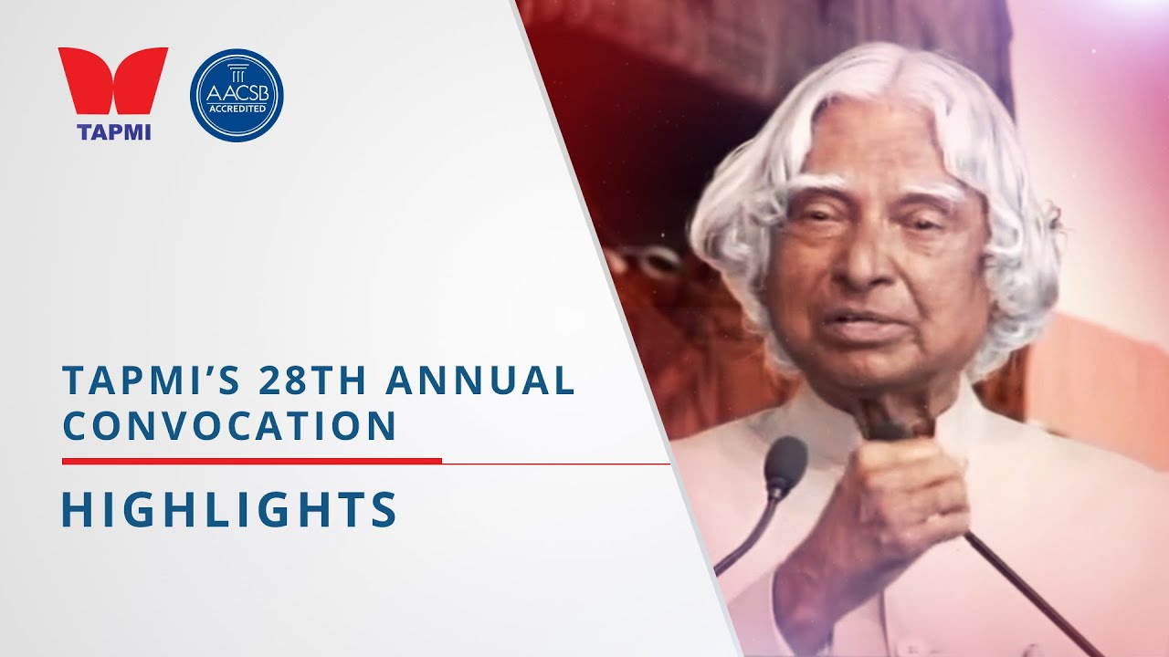 TAPMI'S 28th ANNUAL CONVOCATION - HIGHLIGHTS