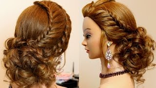 Bridal prom updo. Hairstyles for medium long hair