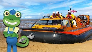 Hovercraft For Kids   Gecko's Real Vehicles   Vehicles For Kids   Educational Videos For Children