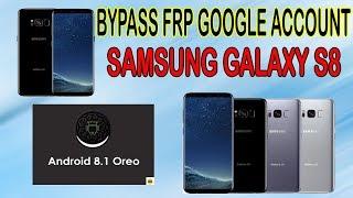2018 frp reset samsung galaxy S8 G950u Bypass Remove Google Acount Lock Frp