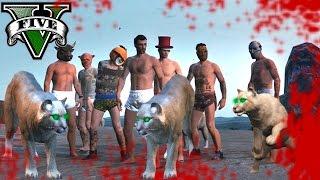 GTA V Online - GLADIADORES CONTRA LEONES - REGRESO AL PASADO!! - NexxuzHD