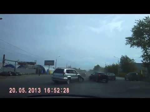 Авария Челябинск 20.05.2013 5 машин на ул. Героев Танкограда