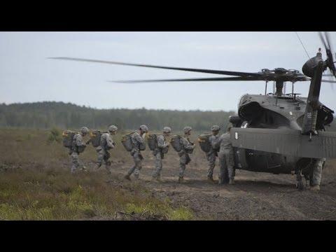 LATVIA!  173rd Airborne Jump from UH-60 Black Hawks!