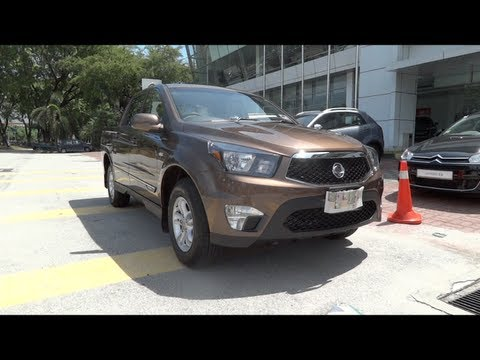 2012 Ssangyong Actyon Sports Start-Up and Full Vehicle Tour