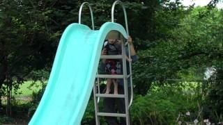 Jake's First Water Slide