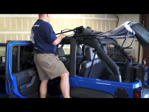 Updated NEW!! How to Install your Soft Top 2012 2013 Jeep Wrangler JK Dual Top